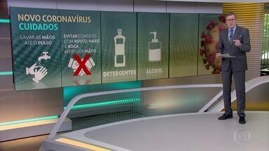 Cuidados simples podem evitar a contaminação pelo novo coronavírus - A maneira mais fácil é higienizar bem e repetidamente as mãos até o pulso, com água, sabão ou álcool gel.