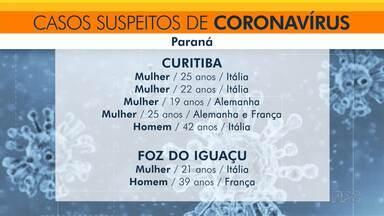 Dobra o número de casos suspeitos de coronavírus no Paraná - Testes rápidos para o coronavírus devem ser entregues em breve no Paraná.