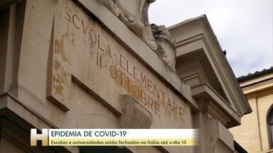 Escolas e universidades da Itália estão fechadas até o dia 15 de março - Medida faz parte de ações do governo italiano para conter epidemia de Covid-19. Mais de 3 mil pessoas foram infectadas e 107 morreram por causa da doença no país.