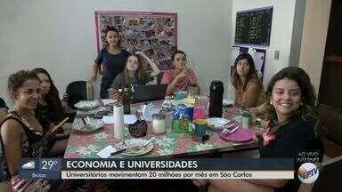 Universitários movimentam R$ 20 milhões por mês em São Carlos - Cidade tem 17 mil alunos, sendo 7 mil da Universidade de São Paulo (USP) e 10 mil da Universidade Federal de São Carlos (UFSCar).
