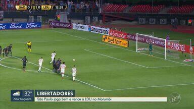 São Paulo vence a LDU por 3 a 0 e se recupera na Libertadores - Veja os resultados das outras partidas disputadas pelo campeonato.