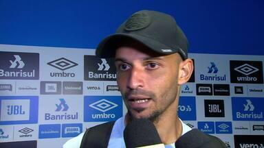 Confira a entrevista coletiva do meia Thaciano após Grêmio 3x2 São Luiz - Assista ao vídeo.