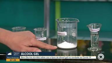 Confira qual o melhor tipo de álcool em gel e as diferenças na ação contra vírus - Assista ao vídeo.