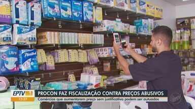 Procon realiza fiscalização contra preços abusivos de máscaras e álcool em gel - Comércios que aumentarem preço sem justificativa podem ser autuados.