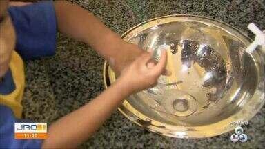 Escolas realizam trabalho de orientação a crianças para lavarem as mãos - Escolas realizam trabalho de orientação a crianças para lavarem as mãos