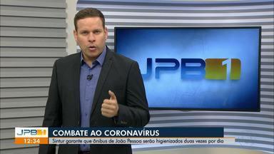 Sintur e INSS definem medidas de combate ao coronavírus - Ônibus de João Pessoa vão passar por limpeza duas vezes ao dia.