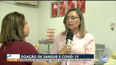 Hemocentro de Floriano registra queda nas doações por conta do coronavírus - Hemocentro de Floriano registra queda nas doações