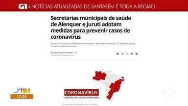 Medidas preventivas das Secretarias de Juruti e Alenquer são destaque do G1 Santarém - Confira as notícias locais e regionais em nossa página na internet.
