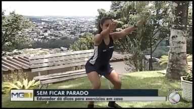 Educador físico dá dicas para prática de exercícios em casa - Vinícius Leal mostra atividades para não ficar parado em tempos de coronavírus
