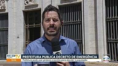 Prefeitura publica decreto de emergência para conter o avanço do coronavírus - Capital pode usar ginásios e escolas para atender a população.
