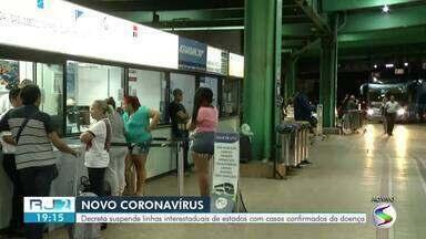 RJ2 mostra movimento na rodoviária de Resende depois de medida contra coronavírus - Decreto suspende linhas interestaduais de estados com casos confirmados da doença.