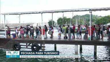 Entrada de turistas é proibida na Ilha Grande, em Angra dos Reis - Decisão atende decreto do Governo do Estado para prevenir o avanço do novo coronavírus.