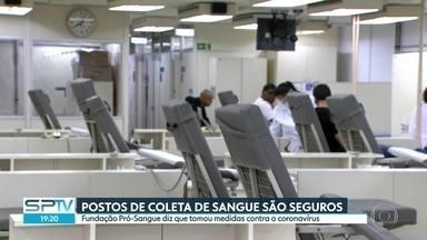 SP tem estoques baixos de sangue e precisa de doadores - A Fundação Pró-Sangue disse que os postos são seguros e higienizados contra o coronavírus. Comitê de Crise informou que a situação é crítica.
