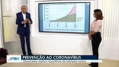 Governador explica importância de restrições sociais como prevenção ao Covid-19, em Goiás - Intenção é evitar aglomerações.