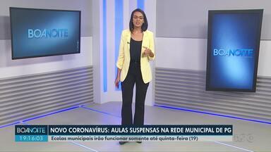 As aulas estão suspensas na rede municipal de Ponta Grossa - Ecolas municipais irão funcionar somente até quinta-feira (19).