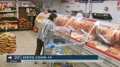 Coronavírus faz consumidores correrem para os supermercados - Coronavírus faz consumidores correrem para os supermercados