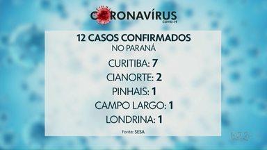 Paraná tem 12 casos confirmados do novo coronavírus - Em Ponta Grossa, continuam 12 casos suspeitos de coronavírus; nenhum foi confirmado.