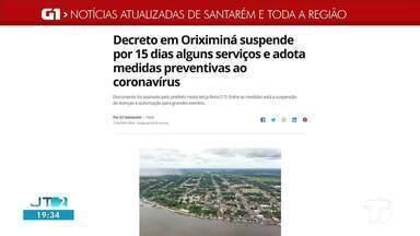 Confira os destaques do G1 Santarém e região - Acesse o portal pelo tablet, celular ou computador.