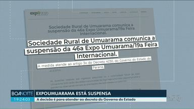 ExpoUmuarama é suspensa pra evitar contagio do novo coronavírus - Prefeitura ainda estuda medidas que serão adotadas contra a doença.