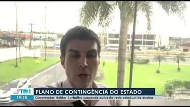 Aulas da rede estadual do Pará estão suspensas - A informação foi anunciada pelo Governador do Estado Helder Barbalho, e é uma medida prevenção ao Coronavírus