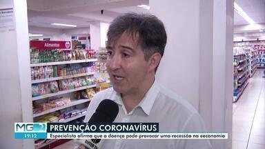 Empresários de Montes Claros temem recessão na economia provocada por coronavírus - Na cidade, muitos produtos como máscaras e álcool em gel estão em falta nas prateleiras.