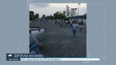 Mais de 500 presos fogem do CPP de Mongaguá - Fuga em massa foi registrada e policiais buscam detentos.
