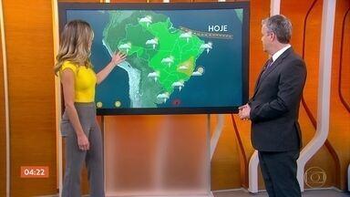 Previsão é de calor em grande parte do país nesta quarta-feira - Em Cuiabá, a máxima é de 35 graus. No Rio de Janeiro, a máxima pode chegar aos 33 graus.
