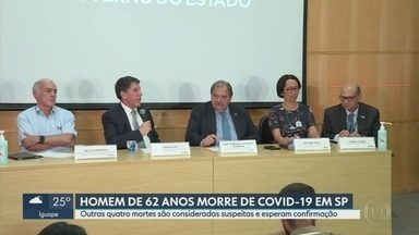 Primeira morte por coronavírus é registrada no país - Caso foi registrado em São Paulo, cidade que tem maior número de casos confirmados.