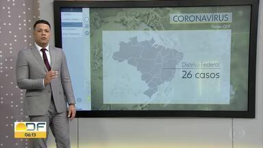 Ministério da Saúde confirma 21 casos de coronavírus no DF - O DF registrou o 1º caso de transmissão local do coronavírus, ou seja, o paciente foi infectado sem ter viajado para o exterior, segundo o Ministério da Saúde.