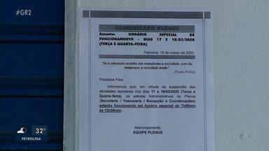Cidades do Sertão de PE têm casos suspeitos de coronavírus e aulas são suspensas - Não há nenhum caso confirmado no Sertão, apenas no Agreste. Em Pernambuco, são 19 casos confirmados.