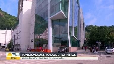 Shoppings voltam atrás e fecham, depois de decreto do governador - Só serviços de entrega continuaram a funcionar.