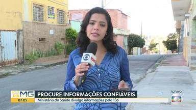 Ministério da Saúde divulga informações sobre o coronavírus - É preciso ligar para o 136 e teclar 1 para falar sobre coronavírus.