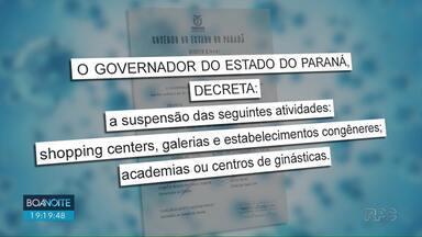 Shoppings e academias ficarão fechados a partir desta quinta (19) - Governo decretou estado de emergência - que suspende atividades.