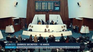Revelações feitas pela RPC e pela Gazeta do Povo mudaram forma de atuação do Gaeco - Veja quais mudanças surgiram na reportagem de hoje da série Diários Secretos - 10 anos.