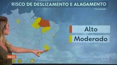 Risco de temporal no Nordeste e Sudeste nesta sexta (20) - Alerta de risco de temporal em parte do Nordeste, no Maranhão, Piauí e Ceará. Parte do Sudeste, Rio de Janeiro e São Paulo também têm chance de temporal.