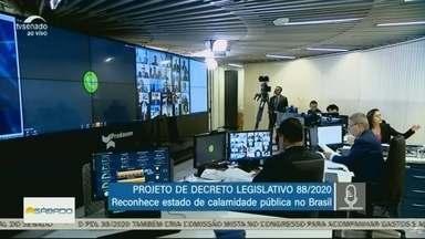 Senado realiza a primeira votação remota - Em pauta estava o decreto que reconhece estado de calamidade pública no pais.