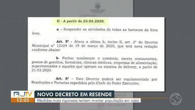 Resende adota novo decreto com medidas mais rigorosas contra o coronavírus - Objetivo é diminuir cada vez mais a aglomeração de pessoas na cidade.