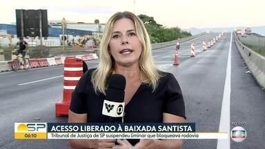Tribunal de Justiça suspende liminar que previa bloqueio da Rod. Padre Manoel da Nóbrega - Via dá acesso à Baixada Santista e ao Vale do Paraíba.