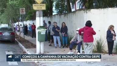 SP1 - Edição de segunda-feira, 23/03/2020 - Começa a campanha de vacinação contra a gripe. Prefeitura de SP promete criar centros emergenciais para sem-teto.