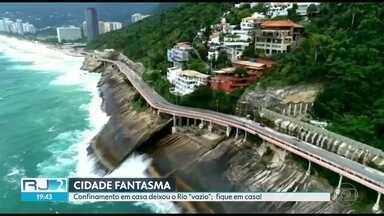 """Confinamento em casa deixou o Rio """"vazio"""": fique em casa! - Imagens aéreas mostram um Rio como a gente nunca viu."""