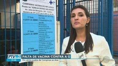 Campinas tem esgotamento de doses de vacina contra a gripe no primeiro dia de campanha - Americana, Indaiatuba, Santo Antônio de Posse e Vinhedo irão priorizar, por orientação do SUS, atendimento de idosos até 15 de abril.