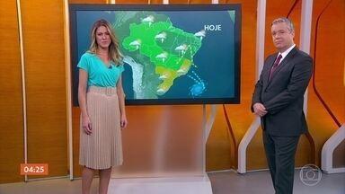 Previsão é de tempo firme no Centro-Sul do país nesta quarta-feira - Saiba como fica o tempo em todo o país.