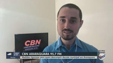 Araraquara tem medidas rigorosas para quem descumprir quarentena do coronavírus - Veja as informações com o apresentador da CBN de Araraquara, Milton Filho.