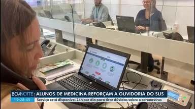 Alunos de medicina reforçam ouvidoria do SUS em Curitiba - O serviço está disponível 24h por dia para tirar dúvidas sobre o coronavírus
