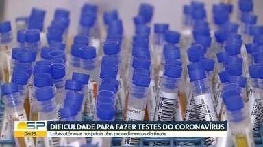Dificuldades para fazer testes do coronavírus - Laboratórios e hospitais têm procedimentos distintos