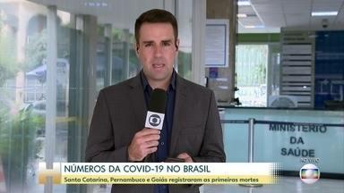 Sete estados brasileiros registram mortes pelo novo coronavírus - Na manhã desta quinta-feira (26), Pernambuco confirmou mais duas mortes. Ao todo, 63 pessoas morreram por causa do novo coronavírus no país.