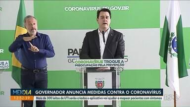 Governador anuncia criação de 300 leitos para casos de coronavírus - Curitiba produz máscaras com impressoras 3D pra rede pública.