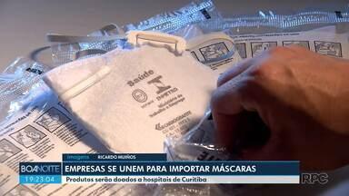 Empresas se unem para trazer máscaras do exterior para os hospitais de Curitiba - São empresas que atuam com importação.