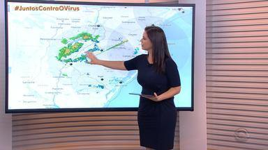 Sábado (28) tem instabilidade na metade Oeste do RS; calor continua no Estado - Assista ao vídeo.