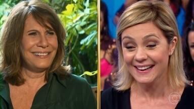 Histórias do Domingão: Renata Sorrah revela bastidores com Adriana Esteves - As atrizes declaram admiração uma pela outra